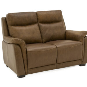 Francesco brown leather 2 seater