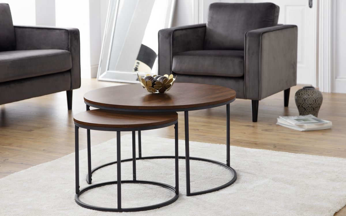 Bellini Round Nesting Coffee Tables Lowneys Fine Furniture Bedding Sales Wexford
